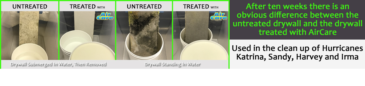 AirCare Drywall Mold Results Homepage Banner