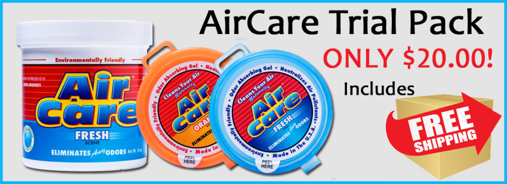 AirCare Odor Eliminating Gel Trial Pack Banner